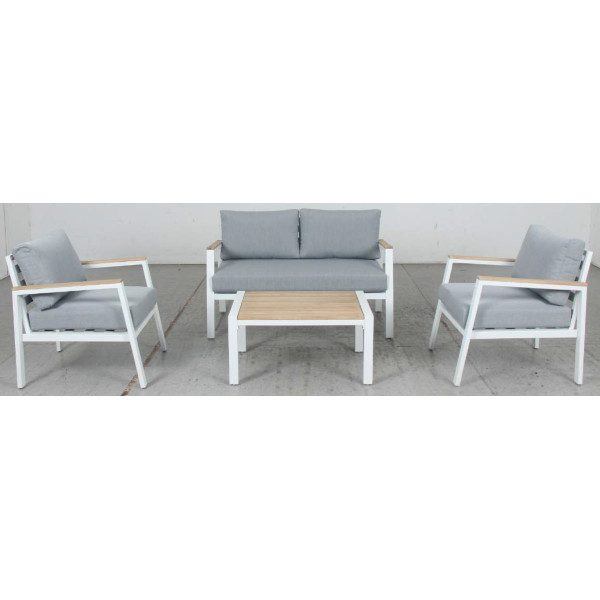 Mayfair 4pce Lounge White Outdoor Furniture Perth