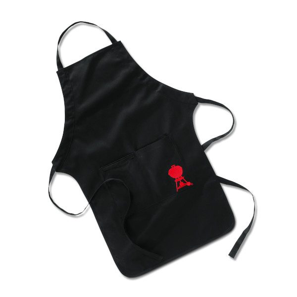 BLACK APRON WITH RED KETTLE