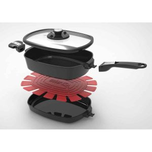 Q WARE CASSEROLE-FRYING PAN PACK LARGE