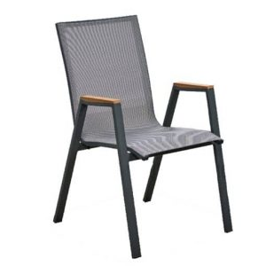 Austin Sling Chair with Teak Arms Outdoor Furniture Perth