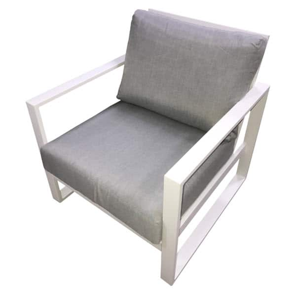 colada single lounge with white cushion outdoor lounge