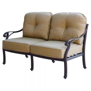 Outdoor Furniture Range Perth Nassau Cast Aluminium Love Seat with Antique Bronze Finish