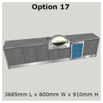 Outdoor Kitchen Range designed exclusively for the Weber Summit and Weber Q In-built BBQ's