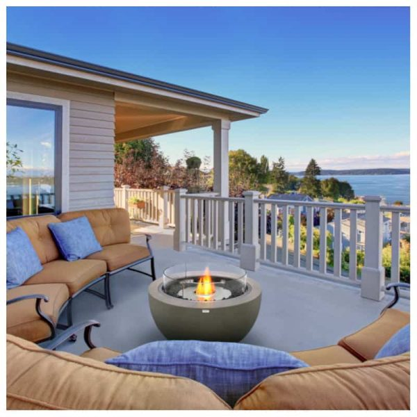 Cozy patio area with Puget Sound view