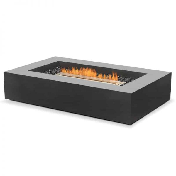 Wharf Fire Pit Table Natural Graphite